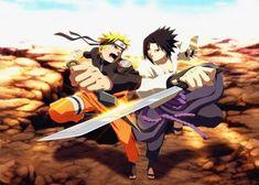 Metal Poster Naruto Uzumaki Sasuke Uchi