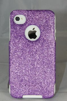 Custom Glitter Case Otterbox for iPhone 4/4S Orchid by 1WinR, $35.99