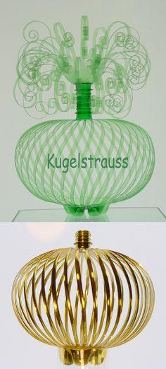 artist Eduard Aldrovandi makes new creations out of PET plastic.