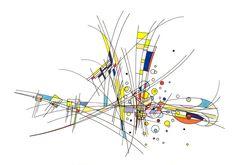 #2018 #tria #pantone #promarker #letraset #letrasetpromarker #poscamarker #pantone #drawing #dessin #colors #couleurs #indianink #encredechine #marker #marqueur #abstract #abstrait #artabstrait #abstractart #lines #circle  // 2018-023