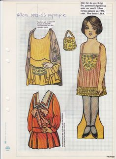 Allers 1990 - | Maggans nostalgiska klippdockor *1500 free paper dolls for Christmas at artist Arielle Gabriels The International Paper Doll Society and also free Asian paper dolls at The China Adventures of Arielle Gabriel *