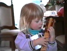 Melanie playing her dad's guitar joekellily