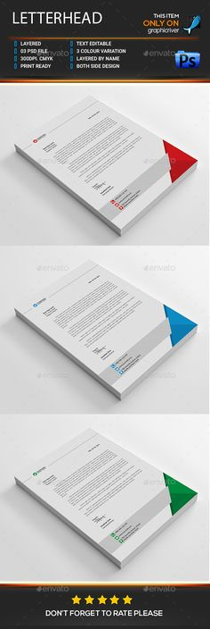 #Letterhead - #Stationery Print Templates Download here: https://graphicriver.net/item/letterhead/18643230?ref=alena994
