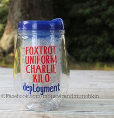 Deployment Survival Wine Glass Military Deployments suck Air Force Wife Navy Wife Army Wife by MonsterAndMunchkin on Etsy