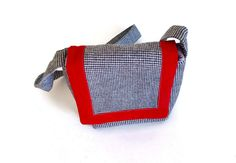 Small Messenger herringbone fabric with Magnetic Snap - pinned by pin4etsy.com