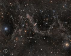 NGC7497 in the background of the IFN - David Dvali