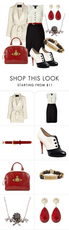 """Mafia Business"" by doe-eyed-doll ❤ liked on Polyvore featuring Rodebjer, Marc by Marc Jacobs, Dorothy Perkins, Christian Louboutin, Vivienne Westwood, Chanel, Rock Rebel, Amrita Singh, mafia wife and princess"