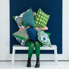 Spira Solros Blue Cushion -HUS & HEM- Scandinavian Design For The House And Home