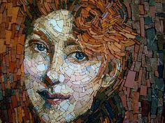 """""""La Treccia Bionda"""" (Blonde Braid) by Giovanni Boldini (1845 -1931) recreated in mosaic by Maestra Evelina Della Vedova"""