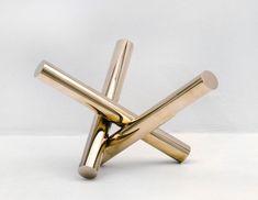 Max Bill, Unit of Three Equal Cylinders I/IV, 1966, Bronze, 25.5 x 43 x 38 cm   sculpture