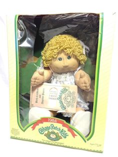 Vintage Coleco 1984 Cabbage Patch Kids Box Adopt Certs Blonde Barb Born: Sept 1 #DollswithClothingAccessories