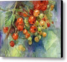 Currants Berries Painting Canvas Print / Canvas Art By Svetlana Novikova