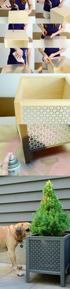 Maceta con diseño geométrico - curbly.com - DIY Planter Box