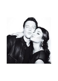 cory monteith & lea michele. The most adorable couple...rip Cory