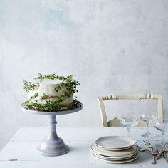 Grey Swirl Glass Cake Stand
