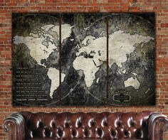 Hey, I found this really awesome Etsy listing at https://www.etsy.com/listing/276801666/industrial-push-pin-or-canvas-world-map
