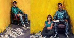 A première vue, ces peintures semblent tout à fait normales. Et puis, lorsqu'on regarde de plus près...