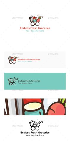 Endless Fresh Groceries - Shopping Cart Stock Logo Template: Symbol Logo Design Template created by vecras. Brochure Template, Logo Templates, Supermarket Logo, Cart Logo, Logos Ideas, Food Suppliers, Logo Shapes, Reference Letter, Shop Icon