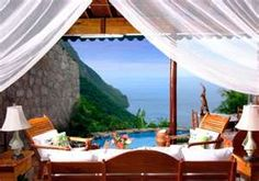 Ladera Hotel in St. Lucia, the view was amazing
