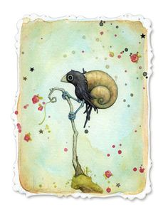 Snail One by leontine, via Flickr