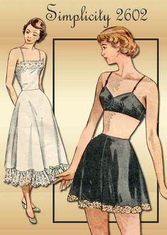 1940s Bra Panties Slip and Camisole Pattern by FloradoraPresents, $23.00