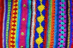 Gehaakte streepjes deken - Crochet Along 2014