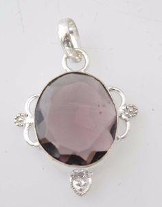Admirable Amethyst Quartz For Teens Jewelry Sterling Silver Plated Pendant E781 #valueforbucks #Pendant