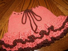 Crocheted Ruffle Skirt