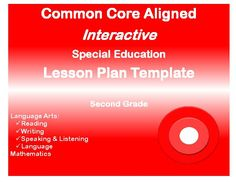 Grades K Special Education Interactive Lesson Plan Templates - Special education teacher lesson plan template