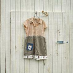 large  xlarge  funky dress / Eco Dress / Tattered by CreoleSha, $67.99