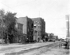 Looking West 6th and Minnesota  1930s  Building top left now UMB