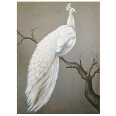White Peacock Painting by Vitorio Splendore #onekingslane and #designisneverdone