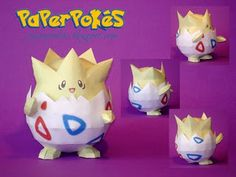 You can find almost every pokemon as a papercraft pattern here! Look how cute Togepi is!