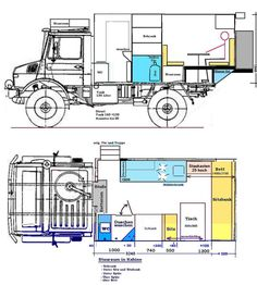 Unimog 435 U1300L Ambulance Camper Conversion (after)