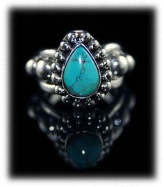 Fancy Victorian Style Tibetan Turquoise Ring by GemSilverJewelry, $138.00  I WANT!!!