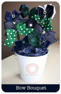 DIY Bow Bouquet - perfect baby girl gift! @Krista Dunham - look at what a great idea