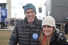 His message was simple. When you are in a hole, stop digging.    On Sunday morning I joined prominent environmentalist and 350.org President Bill McKibben (pictured), Sierra Club Executive Director Michael Brune, and over 50,000 protestors on the National Mall to participate in the largest climate change rally in U.S. history.