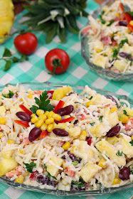 wesoła kuchnia: Sałatka z ananasem i selerem Pasta Salad, Potato Salad, Potatoes, Diet, Ethnic Recipes, Food, Pineapple, Kochen, Meal