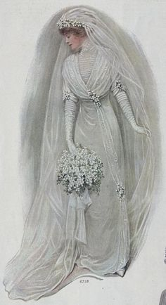 1912 bridal gown .......... my all time favourites of the vintage bride, would undoubtedly be the Edwardian era ...... sooooo fem ....