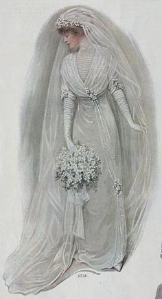 Le mariage en peinture et illustration – Balades comtoises – Herzlich willkommen Antique Wedding Dresses, Vintage Wedding Photos, Vintage Bridal, Bridal Dresses, Wedding Gowns, Vintage Weddings, Wedding Ceremony, Flapper Dresses, Maxi Dresses