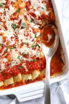 Homemade Manicotti Recipe | Skinnytaste