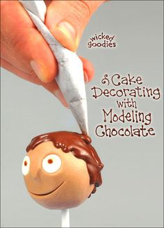 Figurine sculpted from modeling chocolate with piped chocolate hair, from the new book by Wicked Goodies