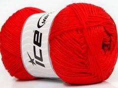 Baby AntiBacterial Red knitting yarn from ice yarn