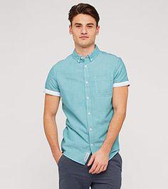 Hemd in der Farbe helltürkis bei C&A