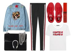 """""""street style"""" by sisaez ❤ liked on Polyvore featuring Gucci, AlexaChung, Puma and NYX"""