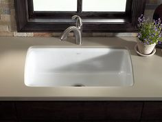 Cape Dory Under-Mount Kitchen Sink with Five Faucet Holes | K-5864-5U | KOHLER Crafted from enameled cast iron, this sink resists chipping, cracking, or burning for years of beauty and reliable performance.