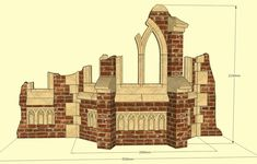 The Ruined Bay Turret – 3D PDF & Design - Gothic Folly