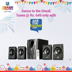 Host the coolest parties this Diwali with your Intex 2.1 Speakers @ Rs.649 only with AskMe Bazaar & #GrandDiwaliMela