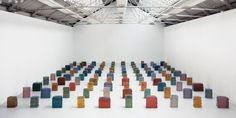 Rachel Whiteread Untitled (One Hundred Spaces) 1995 Resin (100 units) Dimensions variable
