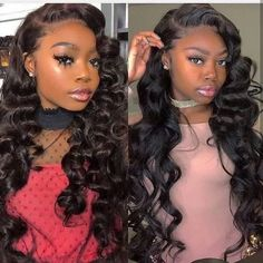 Lace Front Black Wig lace front wigs for african american women full lace wigs with baby hair under 100 100 Human Hair, Human Hair Wigs, Lace Front Wigs, Lace Wigs, Natural Hair Styles, Short Hair Styles, Thing 1, Wigs With Bangs, Lace Hair